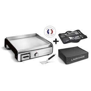 Lagrange Plancha Pro Noir avec kit accessoire et housse de protection 219052 2300 W Lagrange - Publicité