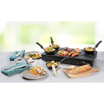Domo Gourmet-Set wok grill et crêpes 1000 W DO8712W Domo