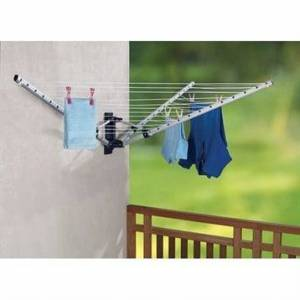Séchoir à linge parapluie pliable en aluminium - Publicité