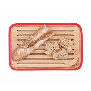 Planche à pain en bambou rouge 28 cm Pebbly