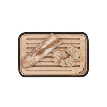 Pebbly Planche à pain en bambou noir 28 cm Pebbly