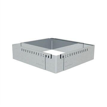 De Buyer Cadre à entremets rectangulaire adaptable inox 21,5 cm De Buyer