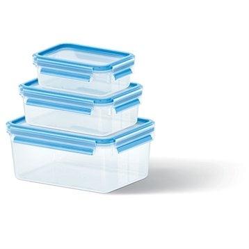 Set de 3 boîtes Clip & Close bleues 0,55L, 1L et 2,3L Emsa