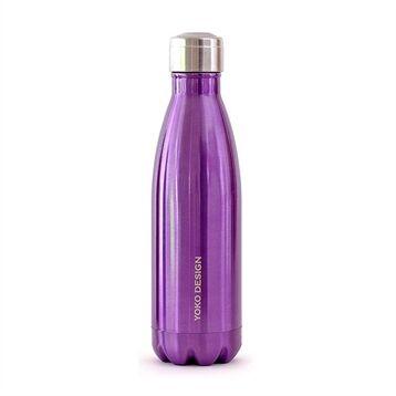 Bouteille isotherme inox 0,5 L violette Yoko® Design