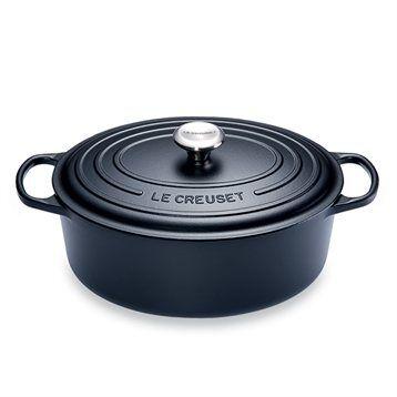 Le Creuset Cocotte fonte ovale 31 cm noir Le Creuset