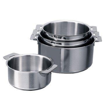 Cristel Set de 4 casseroles Mutine 14 à 20 cm Cristel