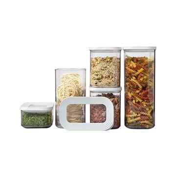 Mepal Set de 5 boîtes de conservation modula blanc Mepal