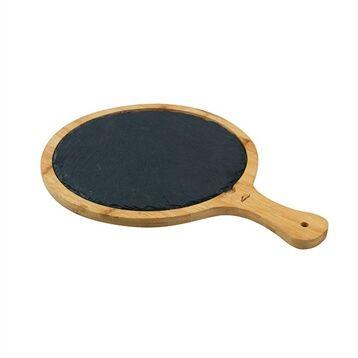 Lacor Planche ronde ardoise et bambou 25 cm Lacor