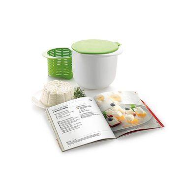 Lekue Kit fromage frais maison avec livre de recettes Cheese Maker Lekue
