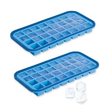Mathon Lot 2 Bacs à glaçons silicone souple démoulage facile 32 cubes Mathon