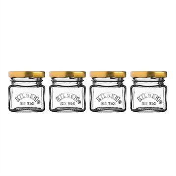 Kilner Set de 4 petits pots de conservation en verre 55 ml Kilner