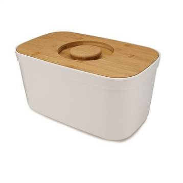 Joseph Joseph Boîte à pain blanc couvercle bambou 35,5 cm Joseph Joseph