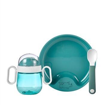 Mepal Coffret repas bébé 3 pièces turquoise Mepal