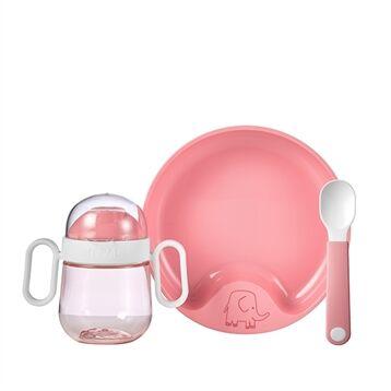 Mepal Coffret repas bébé 3 pièces rose Mepal
