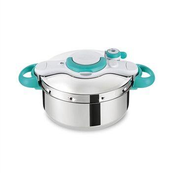 Seb Autocuiseur clipsominut easy Cocotte-Minute® 4,5 L bleu et livre de recettes P4620616 Seb