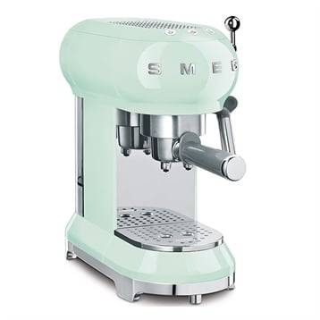 Smeg Machine à café Expresso vert d'eau 1350 W ECF01PGEU Smeg
