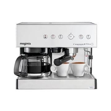 Cafetière Expresso et filtre automatic chrome mat 1,4 L 11423 Magimix