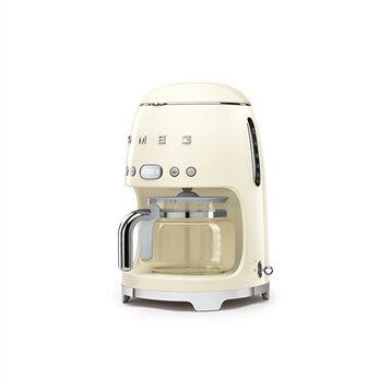 Smeg Machine à café filtre crème 10 tasses 1050 W DCF01CREU Smeg