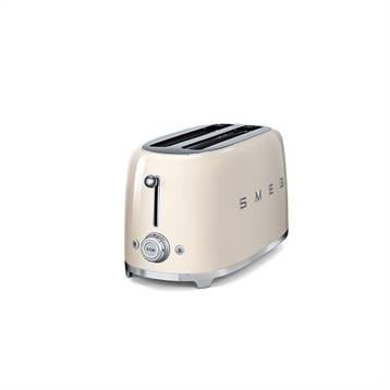 Smeg Grille-pain 4 tranches crème 1500 W TSF02CREU Smeg