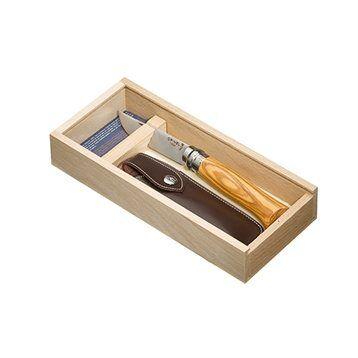 Opinel Plumier couteau pliant bois d'olivier N°8 lame inox 8,5 cm Opinel