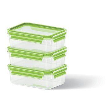 Emsa Set de 3 boîtes Clip & Close vertes 0,55L Emsa