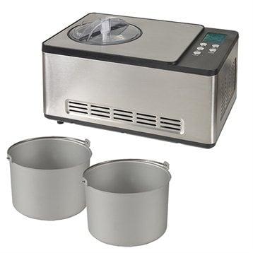 Kitchen Chef Professional Turbine à glace PRO 2 cuves x 1,65 L
