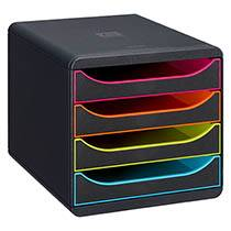 Exacompta Module de classement Exacompta Big-Box 4 tiroirs noir / assortis