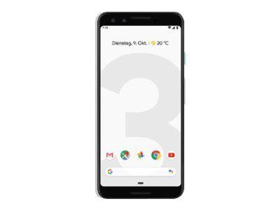 "Google Pixel 3 - Smartphone - 4G LTE - 64 Go - CDMA / GSM - 5.5"" - 2160 x 1080 pixels (443 ppi) - flexible OLED - RAM 4 Go - 12,2 MP (2x front cameras) - Android - blanc clair"