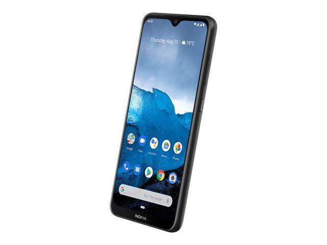 """Nokia 6.2 - Android One - smartphone - double SIM - 4G LTE - 64 Go - microSDXC slot - GSM - 6.3"""" - PureDisplay - RAM 4 Go - (caméra avant de 8 mégapixels) - 3 x caméras arrière - Android - céramique noire"""