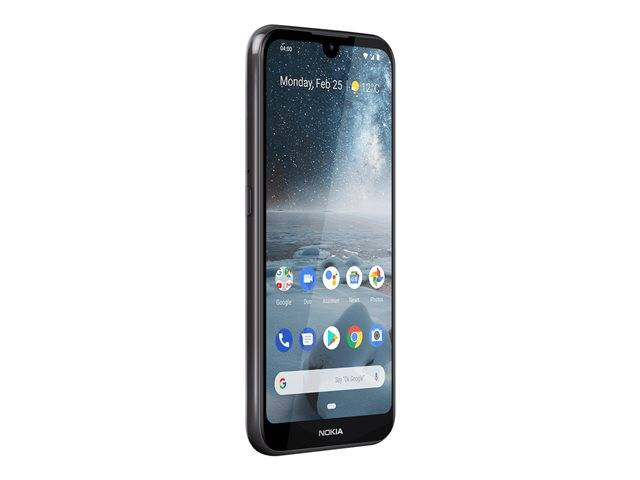 """Nokia 4.2 - Android One - smartphone - double SIM - 4G LTE - 32 Go - microSDXC slot - GSM - 5.71"""" - 1520 x 720 pixels (270 ppi) - TFT - RAM 3 Go - (caméra avant de 8 mégapixels) - 2x caméras arrière - Android - noir"""