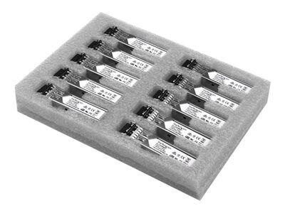 StarTech.com Paquet de 10 modules de transceiver SFP à fibre optique Gigabit - Compatible Cisco GLC-SX-MM - Multimode LC - 550 m - Module transmetteur SFP (mini-GBIC) (équivalent à : Cisco GLC-SX-MM) - GigE - 1000Base-SX - LC multi-mode - jusqu'à 550