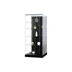 Vitrine d'exposition armoire en verre fond Mastersoft noire - Publicité