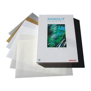 Film autoadhésif SIGNOLIT SC, A3, mat, blanc - Publicité