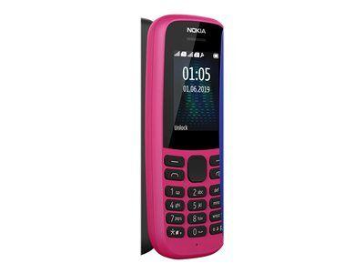Nokia 105 - Téléphone mobile - double SIM - GSM - Nokia Series 30+ - rose