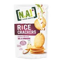Na! Rice crackers sel vinaigre - Boîte de 70 g - Lot de 2
