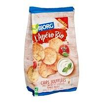 Bjorg Chips Soufflées Pois chiches et Lentilles Tomate Basilic bio - paquet de 80 g