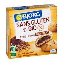 Bjorg Biscuits fourrés au cacao Bjorg - Paquet de 180 g.