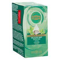 Lipton Infusion Menthe douce Selection Exclusive Lipton - Boîte de 25 sachets pyramides
