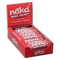 """Nakd Barre fruits secs """" framboise - Berry delight"""" sans gluten Nakd - 35 g - Lot de 18"""