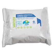 Paquet 30 lingettes humides 20x20cm pour désinfection des mains et surfaces, actif sur coronavirus - Lot de 3