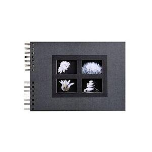Exacompta Album photos à spirales 50 pages noires Passion - 32x22 cm - Noir - Publicité