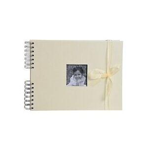 Exacompta Album photos à spirales 50 pages blanches Personnalisable - 32x22 cm - Ivoire - Publicité
