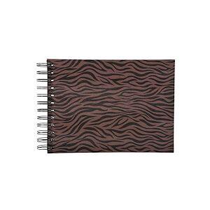 Exacompta Album photos à spirales 50 pages noires Zebra - 23x16 cm - Brun - Publicité