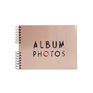 Exacompta Album photo à spirales 50 pages noires - Format 32x22cm - TROPICAL - Rose - Lot de 2 - Publicité