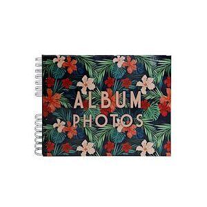 Exacompta Album photo à spirales 50 pages noires - Format 32x22cm - TROPICAL - Visuel - Lot de 2 - Publicité