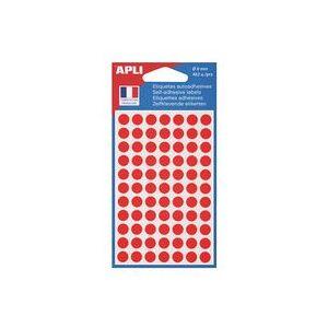 Agipa Pastilles adhésives Ø 8 mm Agipa 11183 rouges - Pochette de 462 - Publicité