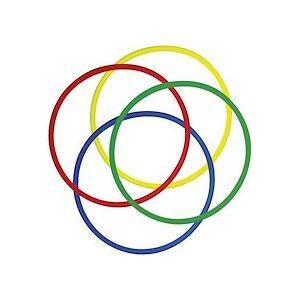 Lot de 4 Cerceaux ronds assortis en polyéthylène, Diamètre 65 cm, diamètre tube 2 cm - Lot de 2 - Publicité