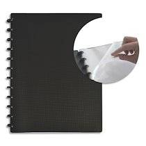 Elba Protège documents MEMPHIS Variozip 60 vues, 30 pochettes amovibles. En polypropylène opaque Noir - Lot de 2