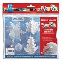 Kit d'activité perles à repasser, 1000 perles assorties, 1 plaque, thème l'univers des neiges - Lot de 4