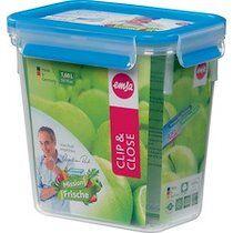 Emsa Boîte de conservation CLIP & CLOSE, 1,10L, transparent - Lot de 3